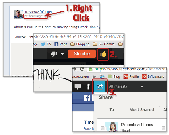Cross Promotion from Facebook to StumbleUpon
