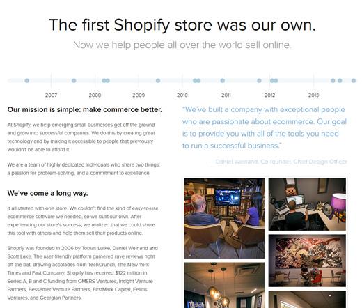 shopify story