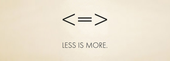 Say a lot more with less
